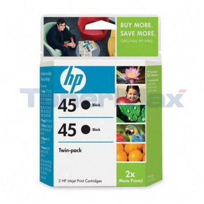 HP 45 PRINT CARTRIDGE BLACK TWINPACK